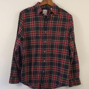 CHAPS 100% cotton flannel button down shirt m